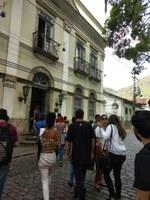 Estudantes visitam prédio histórico
